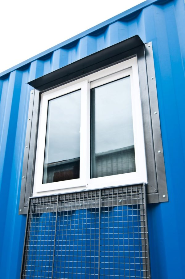 2 3x3 INSTA Window on container flap down