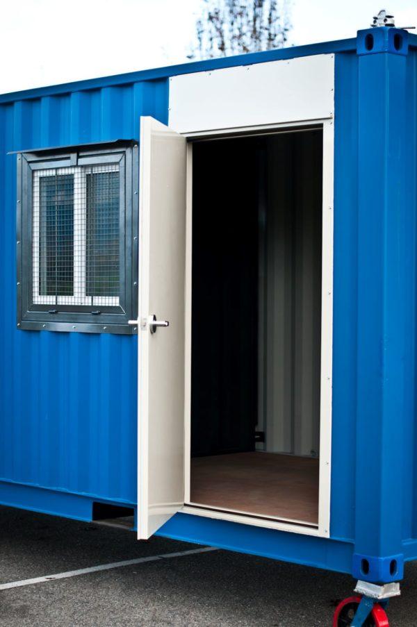 2 INSTA Rhino Door on container open